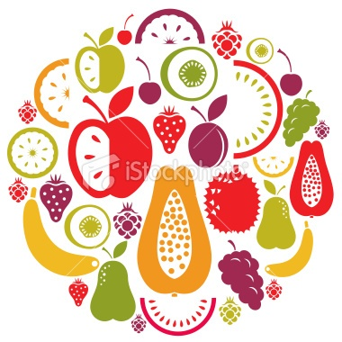 Fruit Icon Set Royalty Free Stock Vector Art Illustration