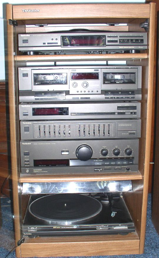 Technics Home Audio Shelf System Stuff From My Youth
