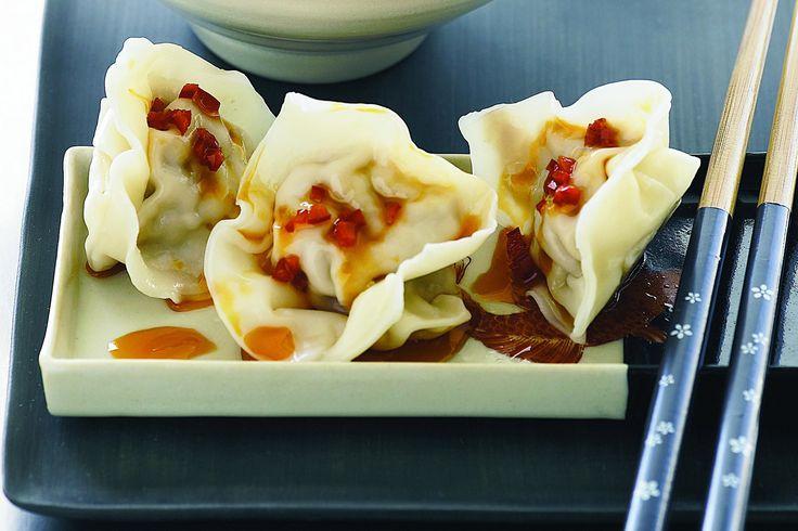 Dumplings in chilli oil
