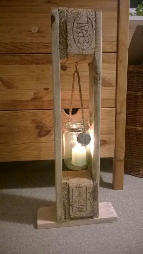 Lässiger Kerzenhalter aus Paletten #diy #ligth