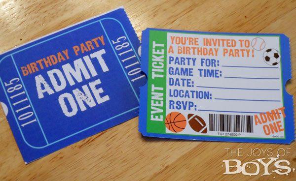 Boys birthday party - sports