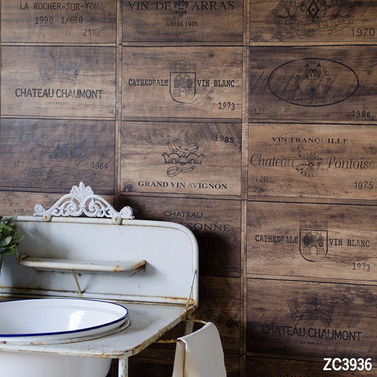 壁紙屋本舗×サンゲツ オリジナル壁紙「Harelu」  Vintage wine box VintageBrown