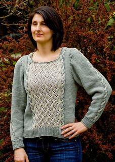 Grapevine Pullover  free knit pattern