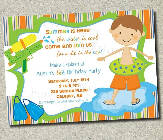 Pool Birthday Party: A Collection Of Holidays And Events