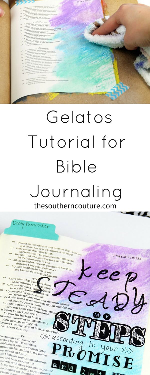Always wanted to try using gelatos but felt intimidated? Not anymore!!! I have the EASIEST technique for using them and how you can make your Bible pages or art journal really stand out.