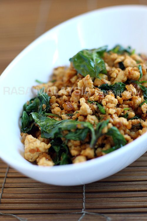 Thai Basil Chicken (Gai Pad Krapow), very tasty! #chicken #thai #recipe