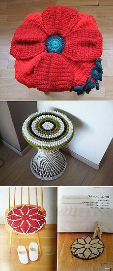Цветочные подушки-сидушки | HandMade