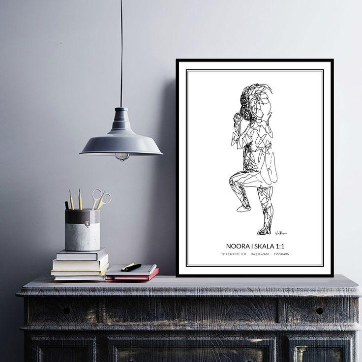 Poster 1, black/white