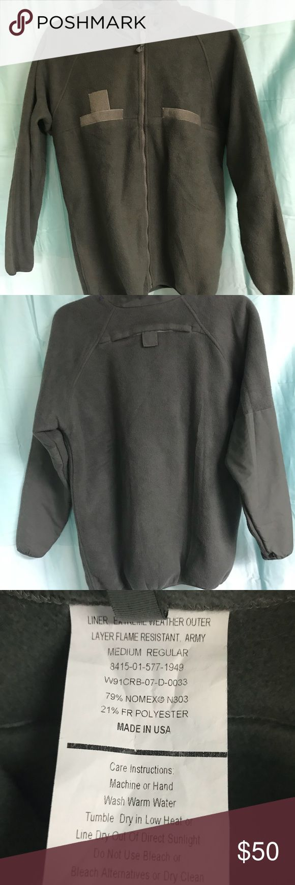 US ARMY ACU FLEECE JACKET ORIGINAL ISSUE EUC THIS IS A GREAT VERY WARM FLEECE JACKET.  US ARMY ISSUE.  ANOTHER GREAT CLOSET FIND. WAS HARDLY WORN us army Jackets & Coats Military & Field