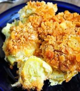 Ritz Crispy Squash Casserole is a delicious yellow squash recipe that takes just five minutes to assemble. The buttery, cheesy squash casserole is topped with a crispy layer of Ritz crackers.