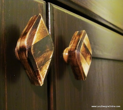 Lucy Designs: Gel Stained Master Bath Cabinets Part 2 #gelstain #touchupsolutions http://touchupsolutions.com/gel-stain  http://gel-stain.com