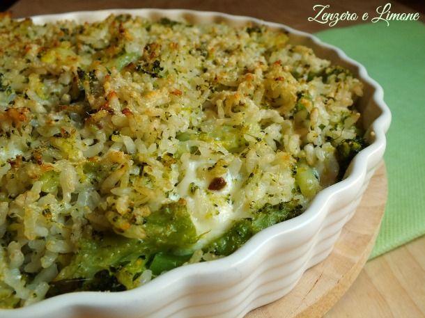 Zenzero e Limone: riso al gratin con broccoli