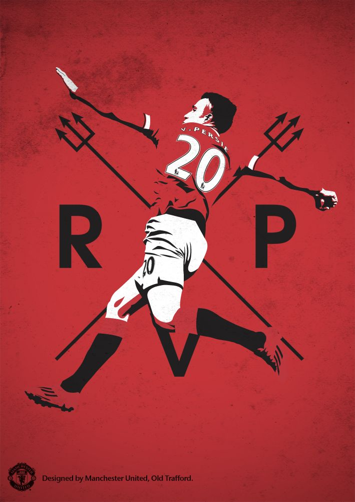 Poster designed by @manutd to celebrate Robin van Persie's 31st birthday.