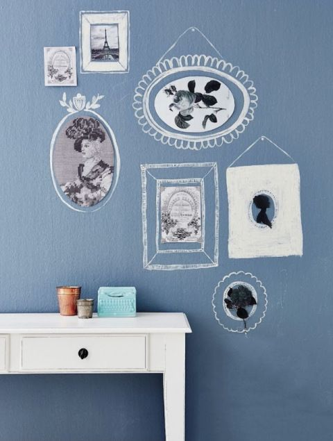 DIY hand drawn frames #decor #DIY #walls