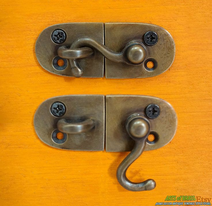 "2.51"" inches Lot of 2 pcs Door LATCH Joint Hook Antique Vintage BRASS SOLID Lock by ArtsofBrass on Etsy https://www.etsy.com/listing/127876679/251-inches-lot-of-2-pcs-door-latch-joint"