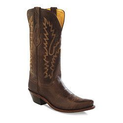 """Woman's Old West cowboy boots antique brown leather foot with matching 12"""" top, leather lined top,leather outsole, and cushion insole, 1 3/4"""" western heel. Thes"""