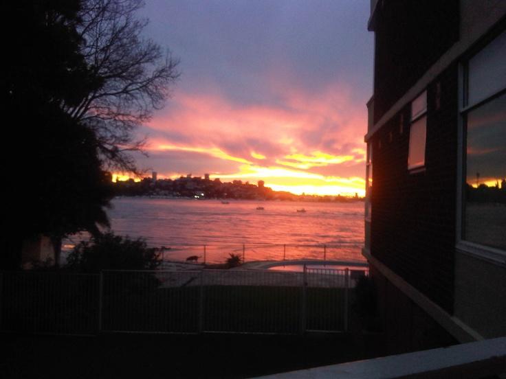 Sunset from my balcony, Rose Bay
