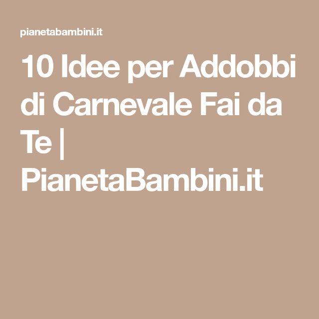Oltre 25 fantastiche idee su carnevale fai da te addobbi for Pianetabambini it maschere di carnevale
