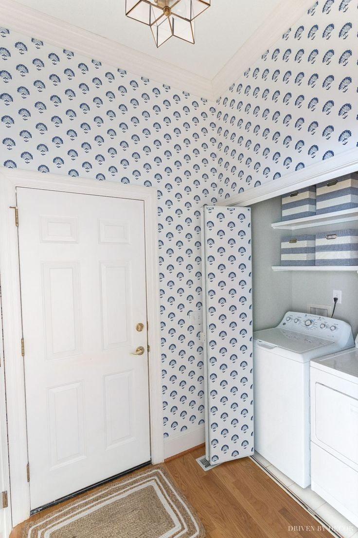 How To Remove Wallpaper Driven By Decor Laundry Room Decor Diy Driven By Decor Laundry Room Decor