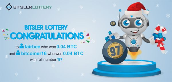 Congratulations to everyone who won the lottery with a shared prize of 0.08 BTC ($1243 😆) ! The next one will take place @ btslr.co/GQRN9   #winners #BTC #LTC #ETH #BURST #DOGE -- bitsler.com