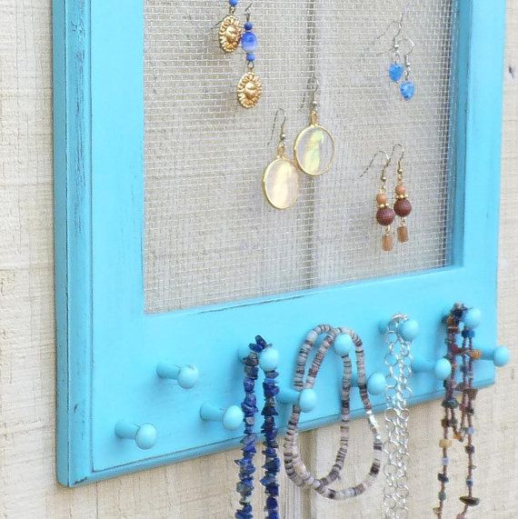 Beach Cottage Jewelry Organizer Apartment Storage and Organization: Craft, Jewelry Storage, Idea, Creative, Apartment, Earrings