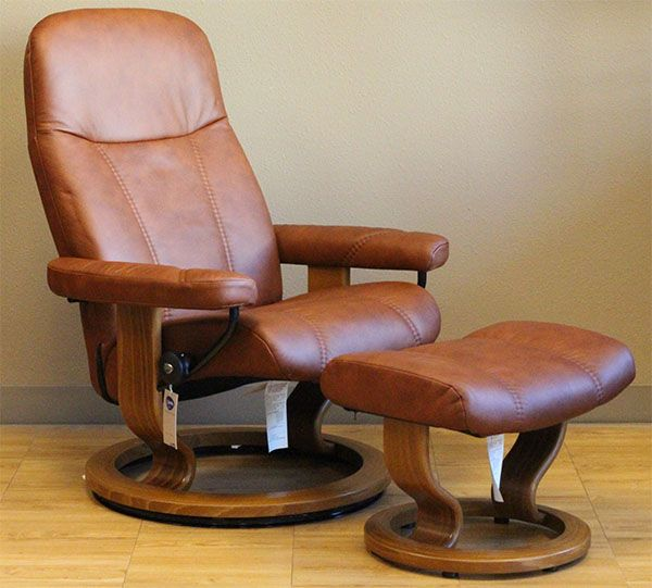 Stressless Batick Caramel Leather By Ekornes Remodel 2