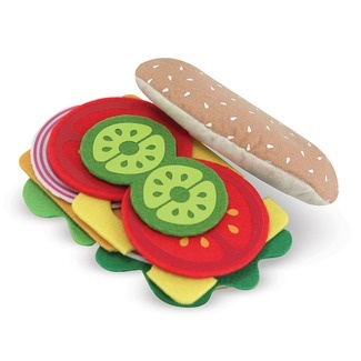 Features:  -Child will enjoy being a chef, a server or a customer.  -Ingredients are included, even the condiments.  Product Type: -Play food.  Color: -Multi Colored.  Number of Items Included: -33.