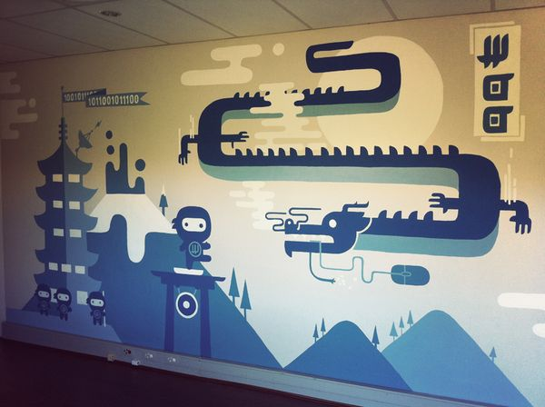 Cool office wall murals images for Cool office wall ideas