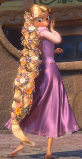 30 day Disney challenge, day 10, best hair, Rapunzel.