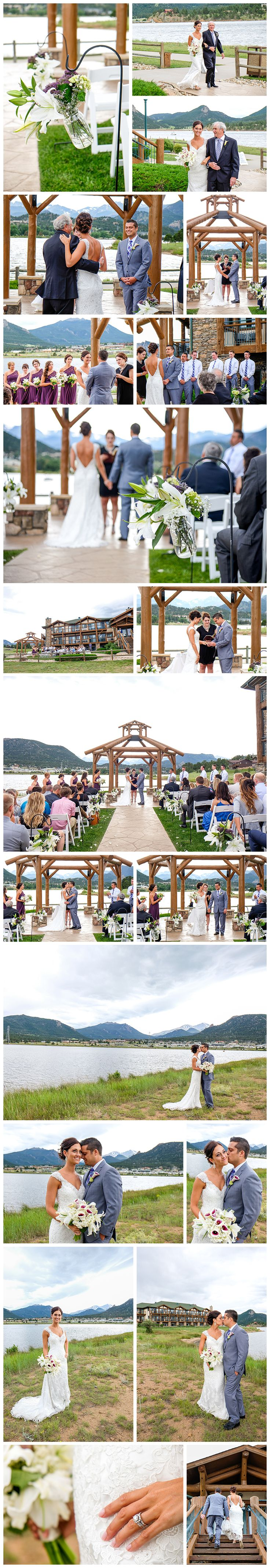 Lynn and Jim had a wonderful Estes Park Resort Wedding. Their nuptials took place by Lake Estes in Estes Park Colorado on a beautiful summer day on the lake