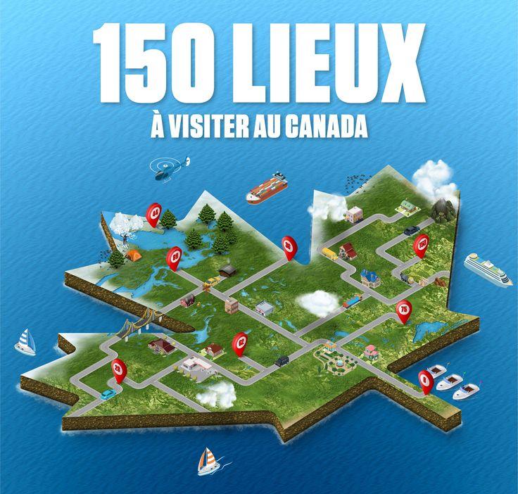 Le Canada fête ses 150 ans. C'est le temps ou jamais de découvrir le pays. D'un océan à l'autre, nous avons recensé 150 lieux symboliques.