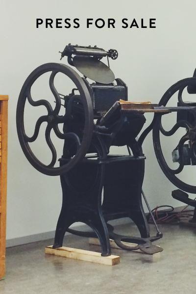 Peerless platen press