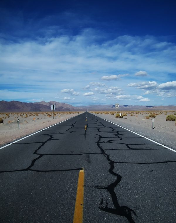 Road in Death Valley by Edit Hodásziné, via Behance
