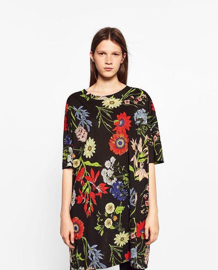 ZARA - WOMAN - PRINTED T-SHIRT DRESS