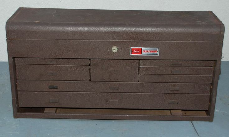 Vintage Machinest Tool Box Vintage Sears Craftsman 8
