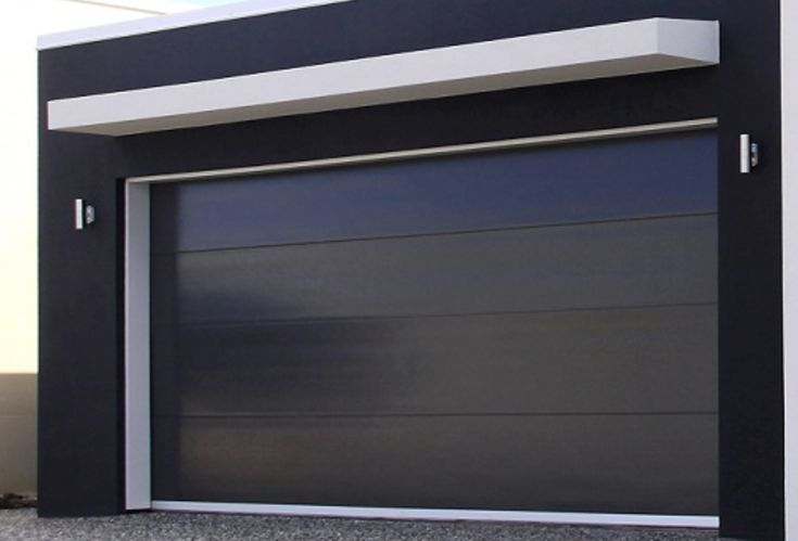 Black modern insulated panel.