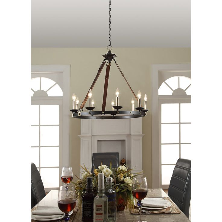 Cavalier 9 Light Black Chandelier Metal Dining Room