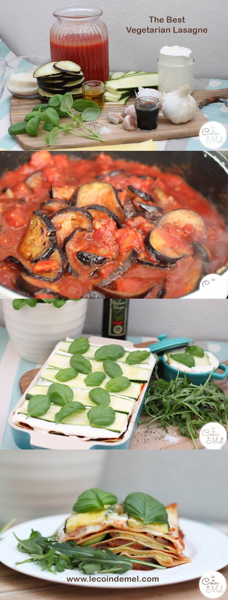 This is the only vegetarian lasagne recipe you will ever need! The first time I tried it, I had portions. It's that good! Oh, and there is an egg and gluten-free alternative, too! Love veggie lasagna!