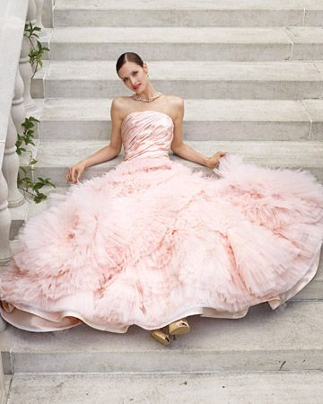 "sweet pink taffeta & tulle dress ""Leah"" gown by Edgardo Bonilla."