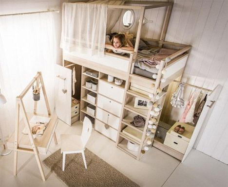 Simple AllinOne Wooden Furniture Series Grows with Kids