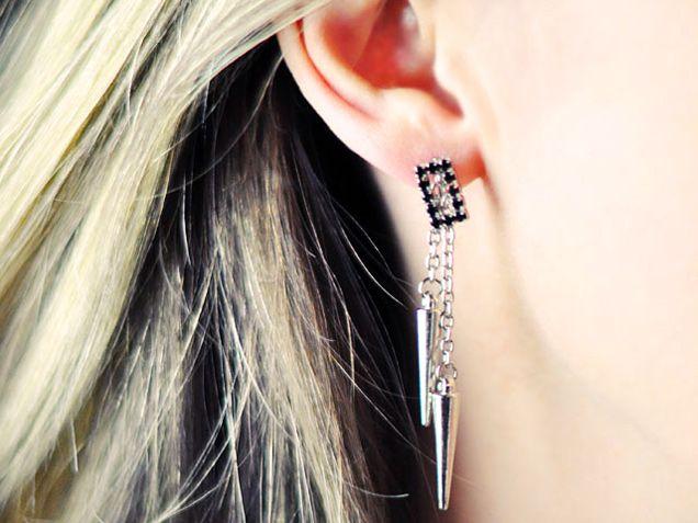 Studded Drop Earrings