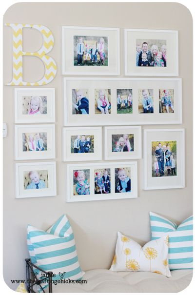 Cool photo layout with monogram!  The letters are sold at http://www.poppyseedprojects.com/kits/wood-letters
