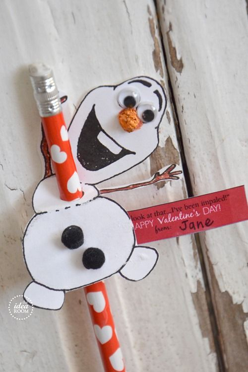 """Oh look at that.. I've been impaled!"" Disney Frozen Olaf Printable.  Use a lollipop instead of pencil."