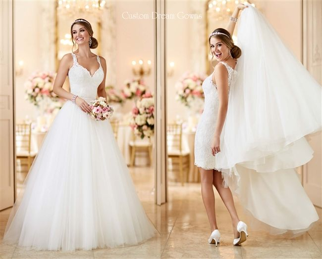 Lace Wedding Dress Two In One