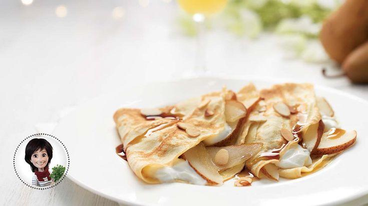 Essayez cette recette de crêpes aux poires et à l'érable de Josée di Stasio qui saura plaire à toute la famille!