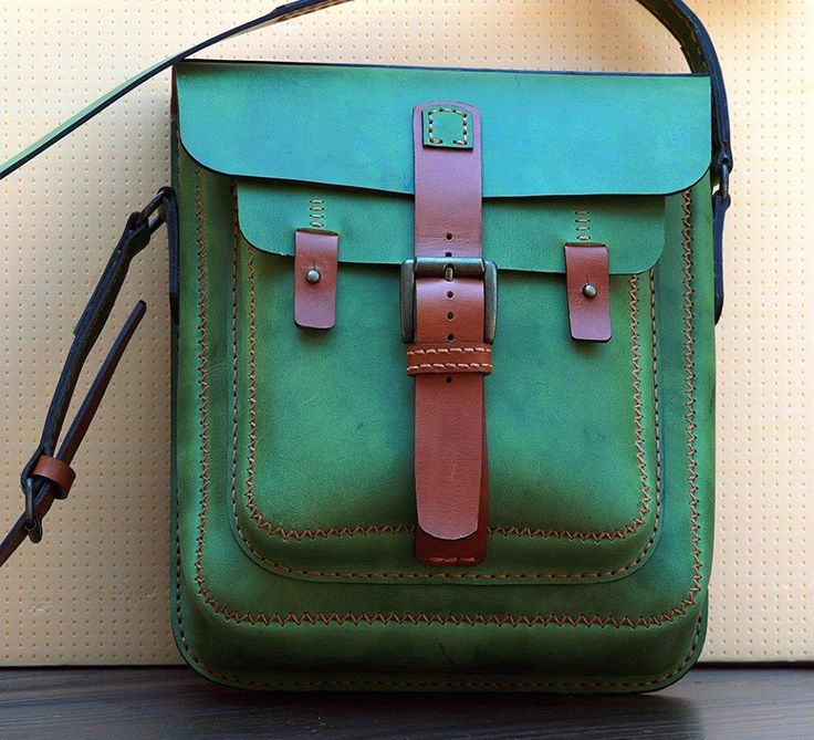 vertical shoulder bag, nubuk and vegtan leather