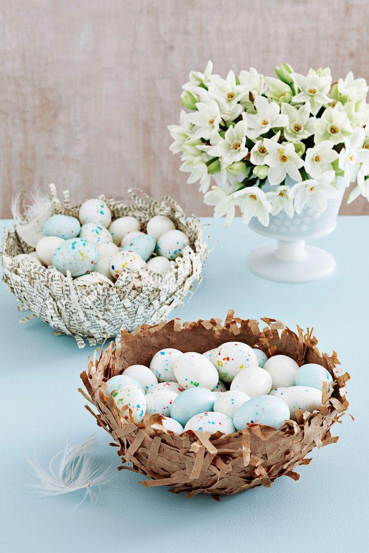 Papier-Mâché Candy Nests