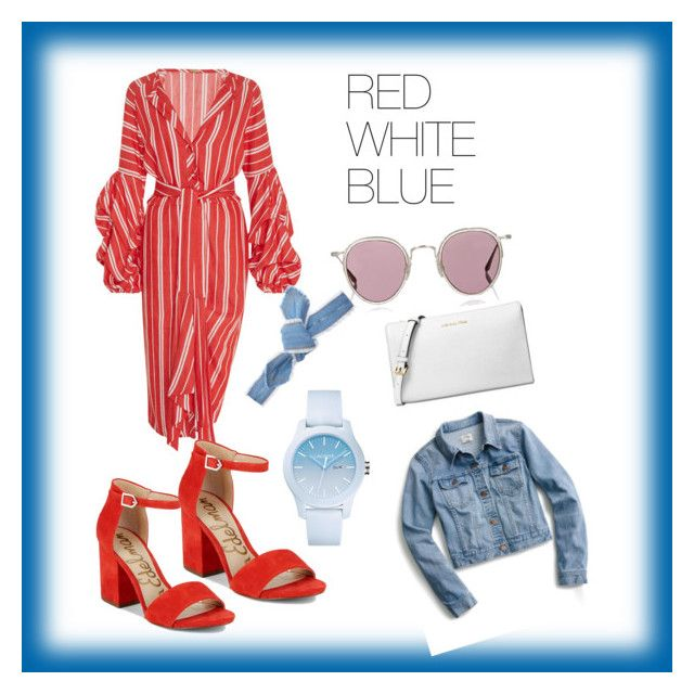 """""""Red White Blue"""" by missybeelondon on Polyvore featuring Johanna Ortiz, Sam Edelman, Barton Perreira, Colette Malouf, Lacoste, Michael Kors and J.Crew"""