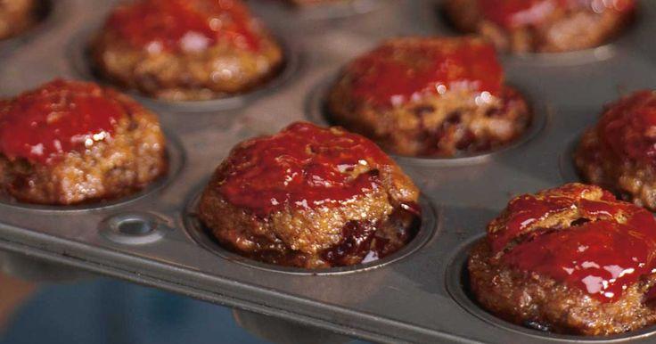Mini-pains de viande au ketchup