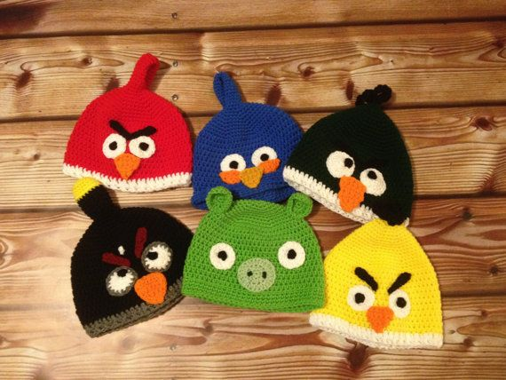 Angry Birds- thinking I can make these using regular cheap hats and felt